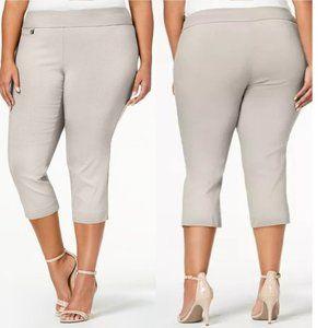 NWT Alfani Plus Size Tummy-Control Capri Pants 24W